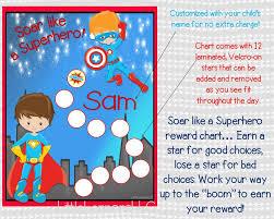 Chart For Kids Superhero Behavioral Chart Personalized Reward Chart Star Chart Laminated Assembled Potty Chart Chore Chart Kids Chart Boys