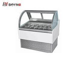 countertop ice cream display freezer danfoss compressor 18 24 stainless steel shutters