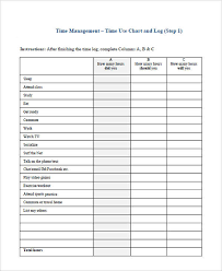 Time Management Chart Template New 35 Time Chart Samples