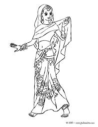 Coloriages Coloriage Princesse Indienne Fr Hellokids Se Coloriage Princesse Indienne L