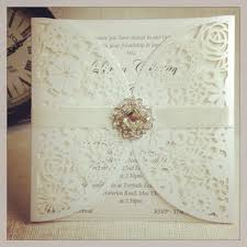 O Glamour Laser Cut Lasercut Wedding Invitation