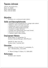 Intern Resume Examples Gorgeous Example College Resume Examples Of Senior High School Resumes