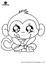 Coloring Cute Monkey Coloring Pages New At Decoration Tablet