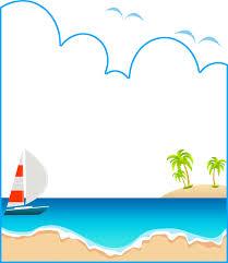 夏のイラストno541フレーム夏の海無料のフリー素材集花鳥風月