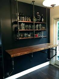 interior wall mounted bar shelves best stunning ideas pleasant 7 wall bar ideas