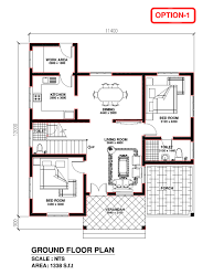 free home plan kerala model house plan 1338 s f t