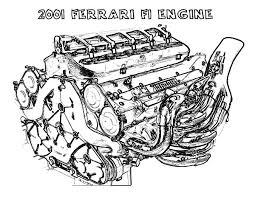 find the best coloring pages resources here part  ferrari car f1 engine parts coloring pages