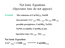 aqueous solution reactions and net ionic equations ppt