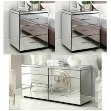 mirrored bedside furniture. rio mirrored bedside tables u0026 dresser package mirror furniture n