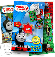 Print & download thomas the train theme coloring pages Amazon Com Thomas The Train On The Go Coloring Activity Set With Stickers Coloring Book Pages And Coloring Wheel Bundled With Separately Licensed Gww Activity Sticker Toys Games