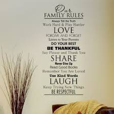 Classic Family Rules Wall Quotes™ Decal