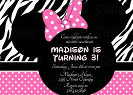 pink zebra minnie mouse birthday baby and similar items shower invitations diy templates party city free