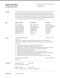 Resume Template For Customer Service Gorgeous Customer Service Resume Template Summary Skills Career Sample Of