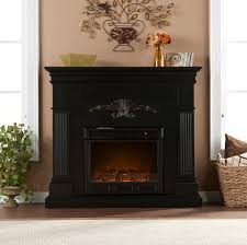 44 75 inch sicilian harvest black electric fireplace