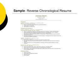 Sample- Reverse Chronological Resume ...