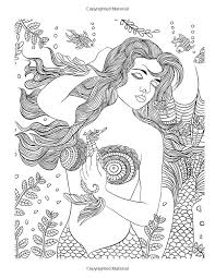 Small Picture 271 best Mermaid Coloring Pages for Adults images on Pinterest