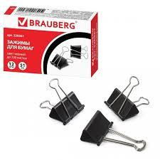 <b>Brauberg Зажимы для</b> бумаг большие на 230 листов 12 шт ...
