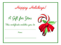 Holiday Gift Certificate Free Holiday Gift Certificates Templates To Print Christmas