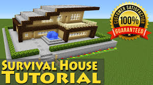 minecraft easy modern wooden survival house tutorial 1 how to build starter you