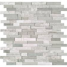 ms international white quarry splitface 12 in x 10 mm marble mesh mounted mosaic tile at the home depot mobile
