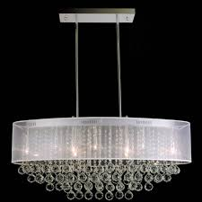 chair elegant oval drum chandelier 17 0001259 36 organza contemporary crystal pendant chrome finish black white