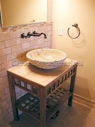 bowl sink vanity. Install A Vessel Sink In Your Bathroom For Unique Contemporary Alternative To The Boring Traditional Wooden Vanity. #stone #sink #bathrooms Bowl Vanity T