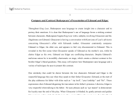 compare and contrast the presentation on edmund and edgar in  document image preview