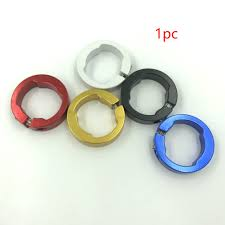 <b>1pc Bicycle</b> Grips Ring Aluminum Alloy End <b>Lock</b> Rings Handlebar ...