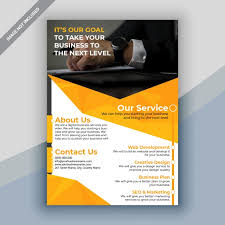 Business Flyer Design Templates Creative Orange Business Flyer Design Template For Free