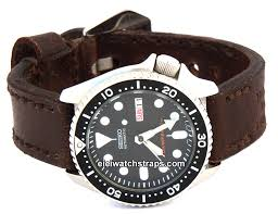 potter vintage style ammo leather watch strap for seiko watches