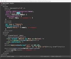 web-mode.el - html template editing for emacs