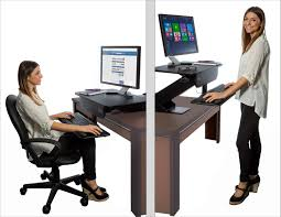 prosumer s choice adjule height sit to standing desk adapter com