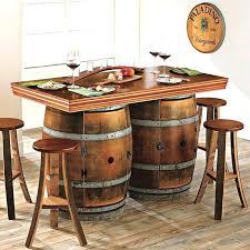 wine barrel furniture overwhelming design works wood kitchen island ideas startling whiskey table walla
