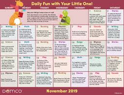 November November Calendar Early Literacy Activities Calendar November 2019