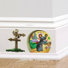 Small Picture Cartoon 3d Wall Sticker Animal For Kids Room 3d Mouse Hole Wall