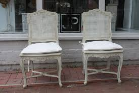 french provincial cane back dining chairs with vine