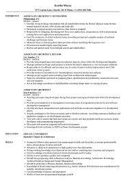 Associate Architect Sample Resume Associate Architect Resume Samples Velvet Jobs 8
