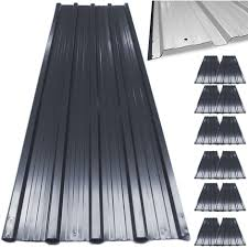 12 x aluminum roof sheets green or anthracite galvanized roofing cladding panels corrugated tzodial 7 m²