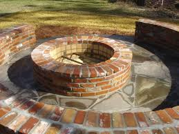 elegant brick fire pit best 25 brick fire pits ideas on