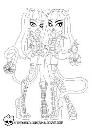 Small Picture Baby Monster High Coloring Pages Monster High Purrsephone and