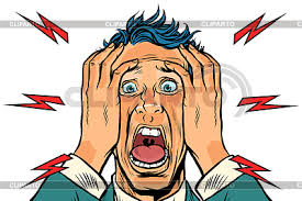 Image result for cartoon picture of person screaming
