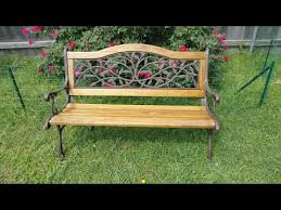 cast iron and wood garden bench diy re project