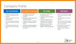 Company Bio Template Beauteous Company Profile Template Word Business Format Meetstanco