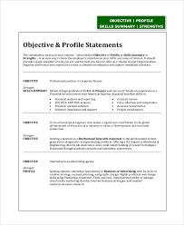 resume objective statement engineering