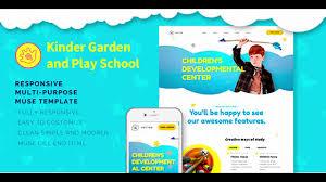 Kids School Website Template Vector Kids School Kinder Garden And Play School Muse