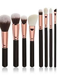 8pcs makeup brushes professional makeup brush set blush brush eyeshadow brush synthetic hair professional full coverage wood