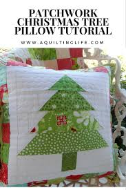 Patchwork Christmas Pillow Tutorial | A Quilting Life - a quilt blog & Grab your 2 1/2