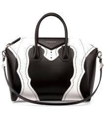 Designer Black Satchel Bags 314 Givenchy Antigona Brogue Satchel Bag Black White