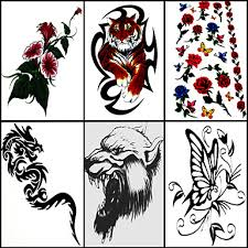 499 6 Ks Růže A Tygr Smíšené Dočasné Tetování