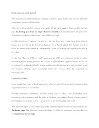 leadership essay example difference between management and essay on characteristics of a good leader